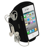 View Item iGadgitz Black Water Resistant Neoprene Sports Gym Jogging Armband for New Apple iPhone 5, 5S, 5C Mobile Phone 4G LTE